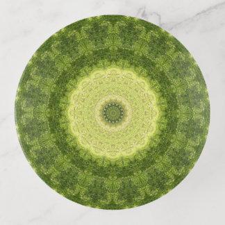 Grüne und hellgelbe Mandala-Kunst Dekoschale