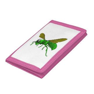 Grüne und Limone Hornissenwespebiene des Cartoon