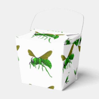 Grüne und Limone Hornissenwespebiene des Cartoon Geschenkschachtel