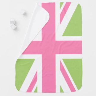 Grüne und rosa Gewerkschafts-Jack-Flagge Babydecke