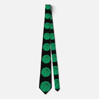 Grüne und schwarze Basketball-Hals-Krawatte Krawatte