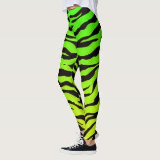 Grüne und schwarze Tiertiger-Streifen Leggings