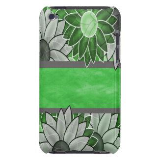 Grüne und weiße Blumen Barely There iPod Case