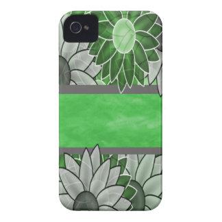 Grüne und weiße Blumen iPhone 4 Case-Mate Hüllen