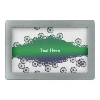 Grüne und weiße Fußball-Gürtelschnalle Rechteckige Gürtelschnallen