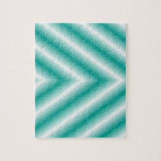Grüne und weiße Steigungs-Pfeile Puzzle