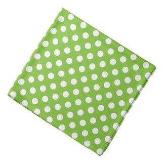 Grüne und weiße Tupfen Kopftuch