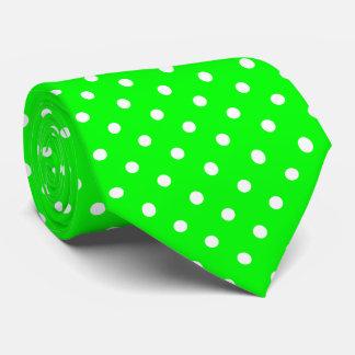 Grüne und weiße Tupfen-Krawatte Krawatte