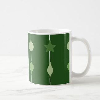 Grüne Verzierungen Kaffeetasse