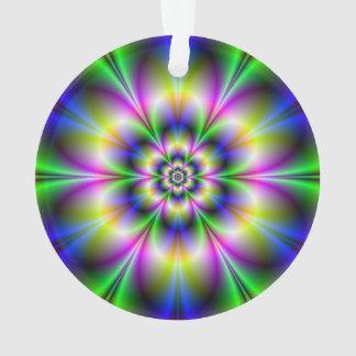 Grüne violette und blaue Blumen-Verzierungen Ornament