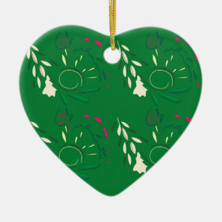 Grüne Volksverzierungen Keramik Ornament