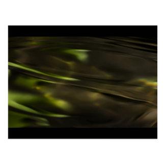 Grüne Wasser-Kräuselungen Postkarte