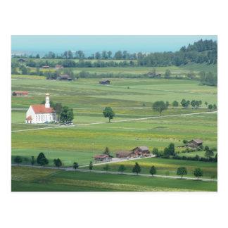 Grüne Weiden von Deutschland Postkarte