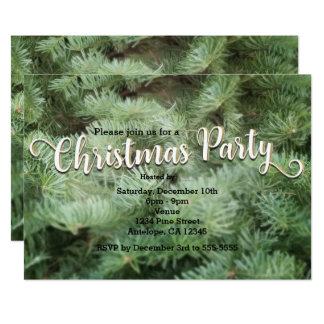 Grüne Weihnachtsbaum-Kiefern-Feiertags-Party 12,7 X 17,8 Cm Einladungskarte