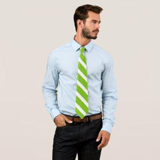 grüne/weiße diagonale Streifen Individuelle Krawatte