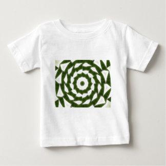 Grüne weiße Kaleidoskop-Kunst 5 Baby T-shirt