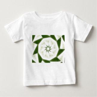 Grüne weiße Kaleidoskop-Kunst 9 Baby T-shirt