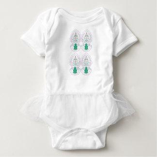 Grüne weiße Verzierungen Baby Strampler