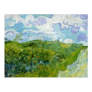 Grüne Weizen-Felder durch Van Gogh Postkarte