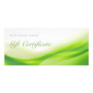 Grüne Wellen-Geschenk-Karten-Zertifikat Individuelle Werbe Karte