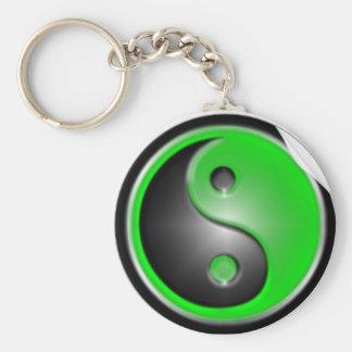 Grüne Yin Yang Schlüsselkette Standard Runder Schlüsselanhänger