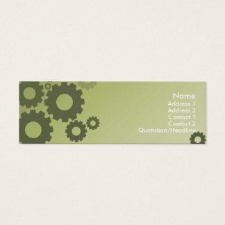 Grüne Zähne - dünn Mini Visitenkarte