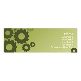 Grüne Zähne - dünn Mini-Visitenkarten