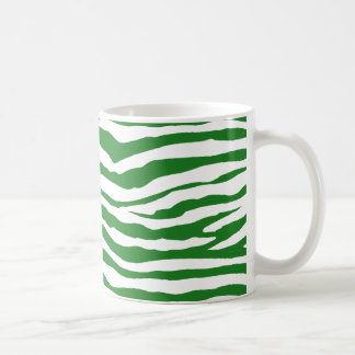 Grüne Zebra-Streifen Kaffeetasse