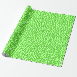 Grüne Zickzack Illusion Geschenkpapier
