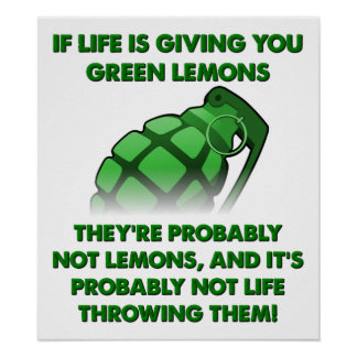 Grüne Zitronen-lustiges Plakat