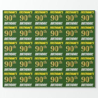 """Grünen Sie, Imitat/nachgemachtes Gold, """"90. Geschenkpapier"""