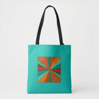 Grünen Sie mit gebrannten orange Aqua-Gold Tasche