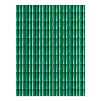Grünen Sie prägeartige Streifen, die SCHABLONE Postkarten