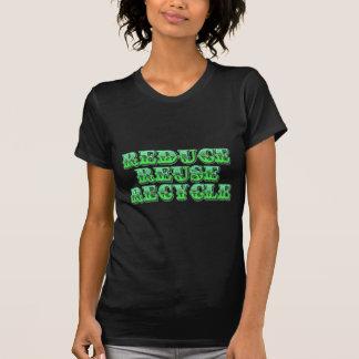 Grünen Sie verringern Wiederverwendung und recycel Tshirts