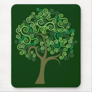 Grüner abstrakter Baum Mousepad