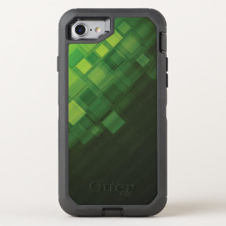 Grüner abstrakter Technologieentwurf OtterBox Defender iPhone 8/7 Hülle