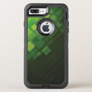 Grüner abstrakter Technologieentwurf OtterBox Defender iPhone 8 Plus/7 Plus Hülle