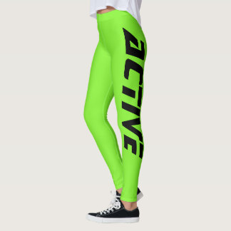 Grüner aktiver Neonsport Leggings