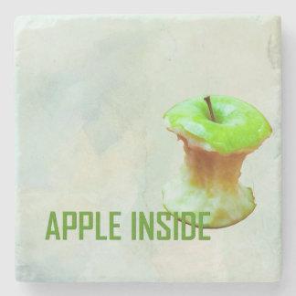 Grüner Apfelkern Steinuntersetzer