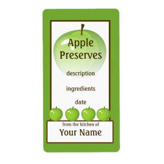 Grüner Apple-Konserven-Aufkleber
