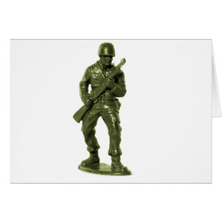 Grüner Armee-Mann Karte