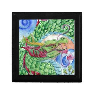 Grüner asiatischer Drache Geschenkbox