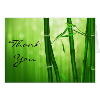 Grüner Bambus danken Ihnen Karte