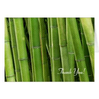 Grüner Bambus Karte