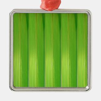 Grüner Bambus Silbernes Ornament