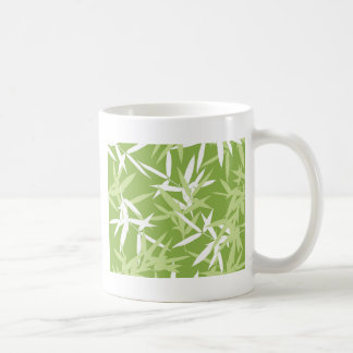 Grüner Bambus verlässt einzigartiges Muster Kaffeetasse