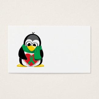 Grüner Band-Pinguin-Schal Visitenkarte