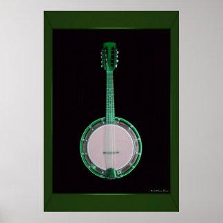 Grüner Banjo-Druck Poster