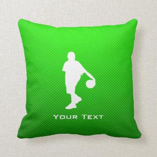 Grüner Basketball Kissen