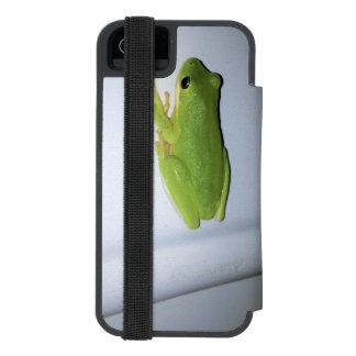 Grüner Baum-Frosch Incipio Watson™ iPhone 5 Geldbörsen Hülle